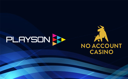 Playson Announces the Addition of No Account Casino to its Distribution Network