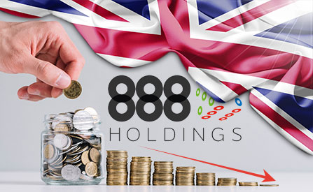 Sharp Decline in UK Market Revenue at 888 Holdings